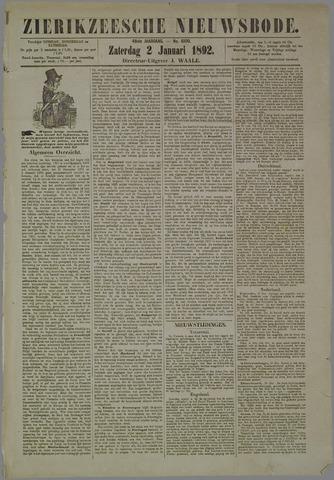 Zierikzeesche Nieuwsbode 1892