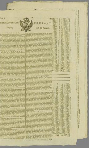 Middelburgsche Courant 1809-01-10