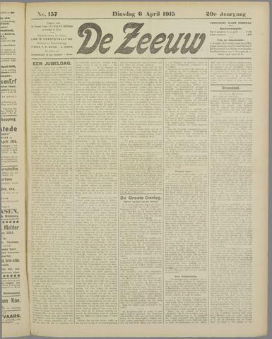 De Zeeuw. Christelijk-historisch nieuwsblad voor Zeeland 1915-04-06