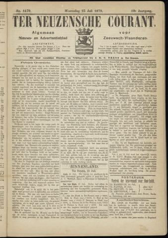 Ter Neuzensche Courant. Algemeen Nieuws- en Advertentieblad voor Zeeuwsch-Vlaanderen / Neuzensche Courant ... (idem) / (Algemeen) nieuws en advertentieblad voor Zeeuwsch-Vlaanderen 1879-07-23