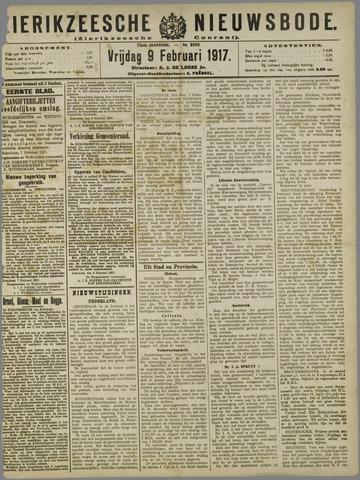 Zierikzeesche Nieuwsbode 1917-02-09