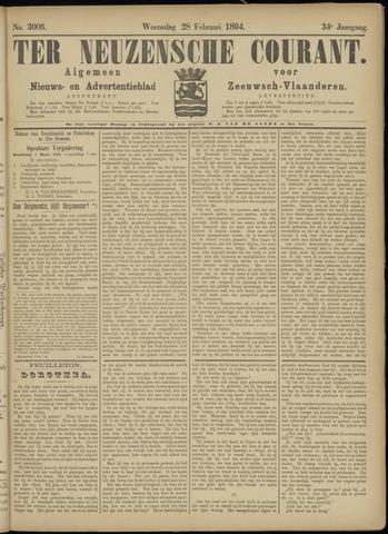 Ter Neuzensche Courant. Algemeen Nieuws- en Advertentieblad voor Zeeuwsch-Vlaanderen / Neuzensche Courant ... (idem) / (Algemeen) nieuws en advertentieblad voor Zeeuwsch-Vlaanderen 1894-02-28
