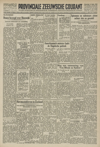 Provinciale Zeeuwse Courant 1946-09-14