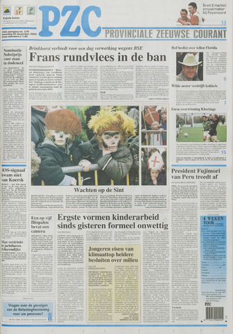 Provinciale Zeeuwse Courant 2000-11-20