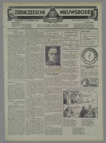 Zierikzeesche Nieuwsbode 1936-10-12