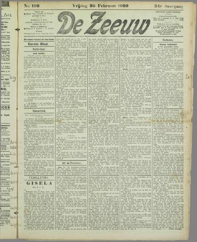 De Zeeuw. Christelijk-historisch nieuwsblad voor Zeeland 1920-02-20