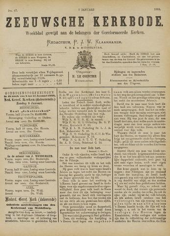 Zeeuwsche kerkbode, weekblad gewijd aan de belangen der gereformeerde kerken/ Zeeuwsch kerkblad 1888