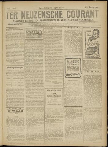 Ter Neuzensche Courant. Algemeen Nieuws- en Advertentieblad voor Zeeuwsch-Vlaanderen / Neuzensche Courant ... (idem) / (Algemeen) nieuws en advertentieblad voor Zeeuwsch-Vlaanderen 1926-04-21