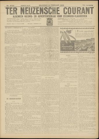 Ter Neuzensche Courant. Algemeen Nieuws- en Advertentieblad voor Zeeuwsch-Vlaanderen / Neuzensche Courant ... (idem) / (Algemeen) nieuws en advertentieblad voor Zeeuwsch-Vlaanderen 1938-02-14