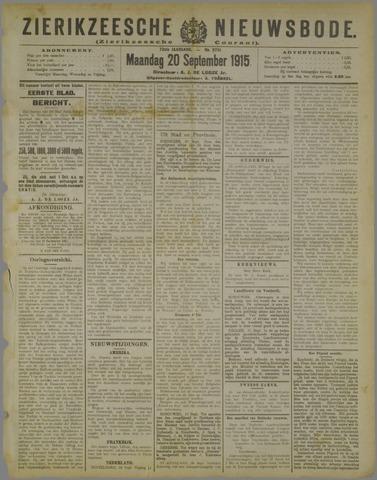 Zierikzeesche Nieuwsbode 1915-09-20