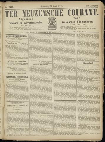 Ter Neuzensche Courant. Algemeen Nieuws- en Advertentieblad voor Zeeuwsch-Vlaanderen / Neuzensche Courant ... (idem) / (Algemeen) nieuws en advertentieblad voor Zeeuwsch-Vlaanderen 1888-06-23