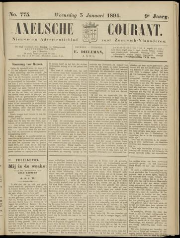 Axelsche Courant 1894-01-03