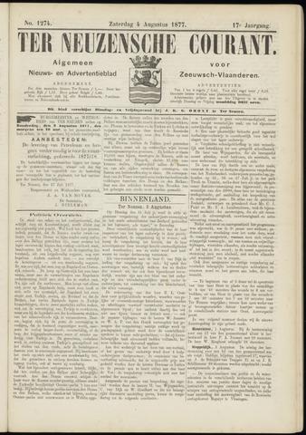 Ter Neuzensche Courant. Algemeen Nieuws- en Advertentieblad voor Zeeuwsch-Vlaanderen / Neuzensche Courant ... (idem) / (Algemeen) nieuws en advertentieblad voor Zeeuwsch-Vlaanderen 1877-08-04