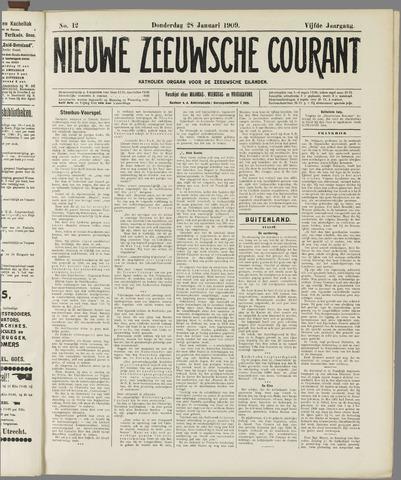 Nieuwe Zeeuwsche Courant 1909-01-28