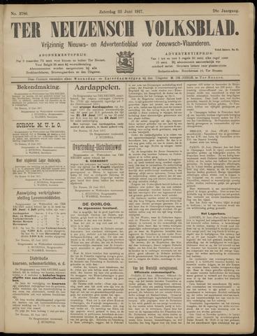 Ter Neuzensch Volksblad. Vrijzinnig nieuws- en advertentieblad voor Zeeuwsch- Vlaanderen / Zeeuwsch Nieuwsblad. Nieuws- en advertentieblad voor Zeeland 1917-06-23