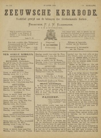 Zeeuwsche kerkbode, weekblad gewijd aan de belangen der gereformeerde kerken/ Zeeuwsch kerkblad 1889-04-20