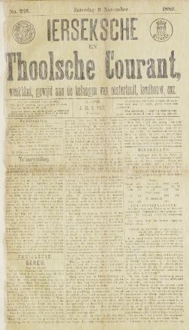 Ierseksche en Thoolsche Courant 1889-11-09