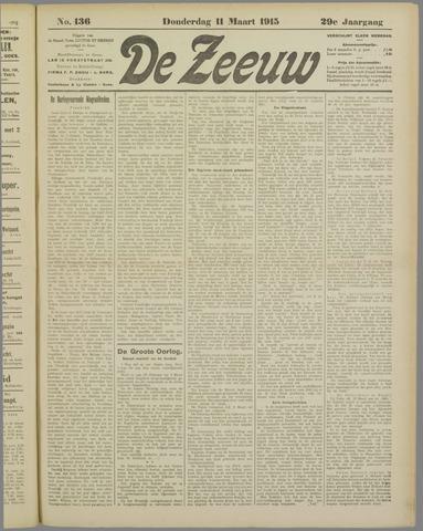 De Zeeuw. Christelijk-historisch nieuwsblad voor Zeeland 1915-03-11