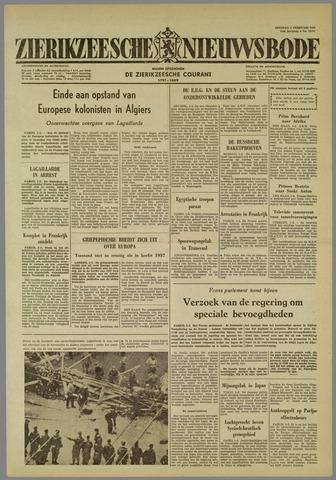 Zierikzeesche Nieuwsbode 1960-02-02