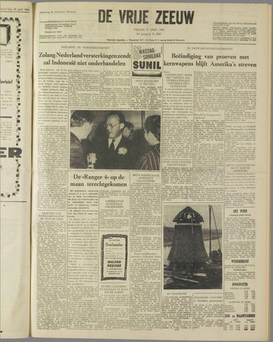 de Vrije Zeeuw 1962-04-27