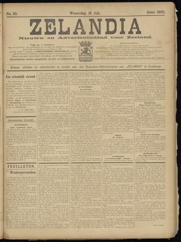 Zelandia. Nieuws-en advertentieblad voor Zeeland | edities: Het Land van Hulst en De Vier Ambachten 1902-07-16