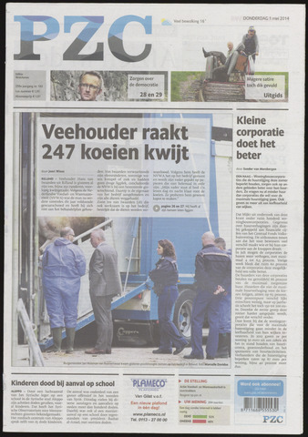 Provinciale Zeeuwse Courant 2014-05-01