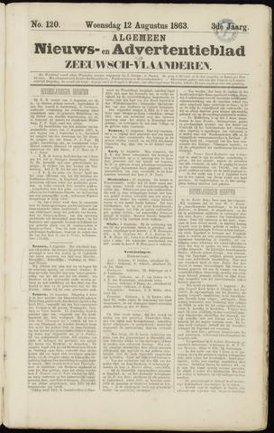 Ter Neuzensche Courant. Algemeen Nieuws- en Advertentieblad voor Zeeuwsch-Vlaanderen / Neuzensche Courant ... (idem) / (Algemeen) nieuws en advertentieblad voor Zeeuwsch-Vlaanderen 1863-08-12
