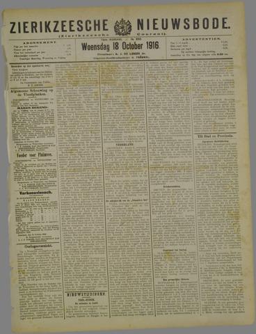 Zierikzeesche Nieuwsbode 1916-10-18