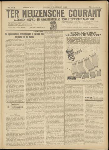Ter Neuzensche Courant. Algemeen Nieuws- en Advertentieblad voor Zeeuwsch-Vlaanderen / Neuzensche Courant ... (idem) / (Algemeen) nieuws en advertentieblad voor Zeeuwsch-Vlaanderen 1936-10-02