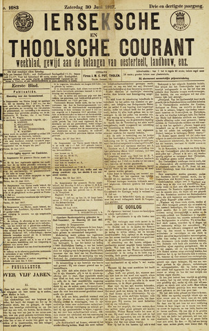 Ierseksche en Thoolsche Courant 1917-06-30