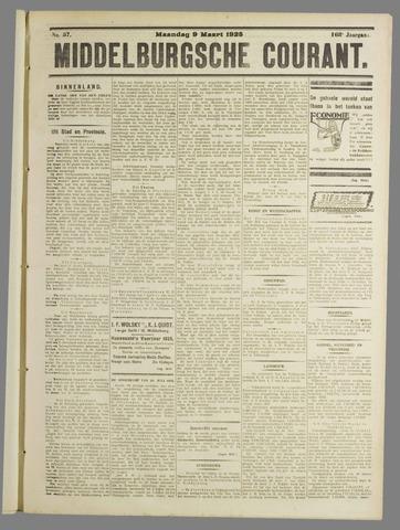 Middelburgsche Courant 1925-03-09