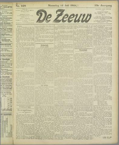De Zeeuw. Christelijk-historisch nieuwsblad voor Zeeland 1919-07-14
