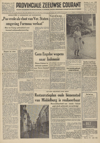 Provinciale Zeeuwse Courant 1958-09-09