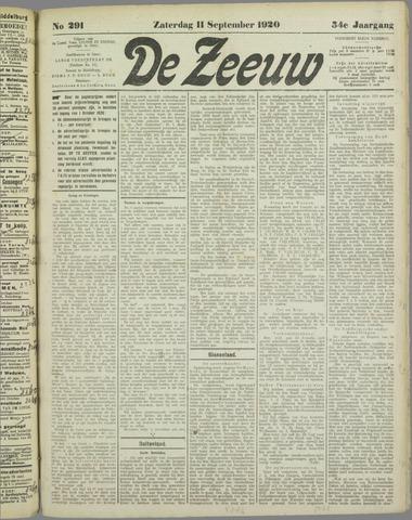 De Zeeuw. Christelijk-historisch nieuwsblad voor Zeeland 1920-09-11