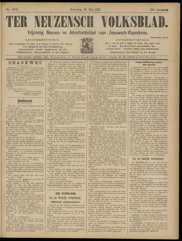 Ter Neuzensch Volksblad. Vrijzinnig nieuws- en advertentieblad voor Zeeuwsch- Vlaanderen / Zeeuwsch Nieuwsblad. Nieuws- en advertentieblad voor Zeeland 1915-05-29