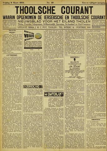 Ierseksche en Thoolsche Courant 1934-03-09
