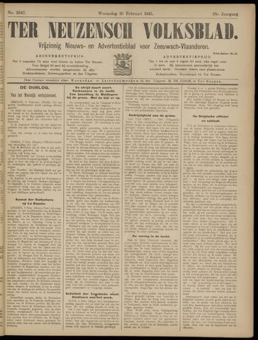 Ter Neuzensch Volksblad. Vrijzinnig nieuws- en advertentieblad voor Zeeuwsch- Vlaanderen / Zeeuwsch Nieuwsblad. Nieuws- en advertentieblad voor Zeeland 1915-02-10