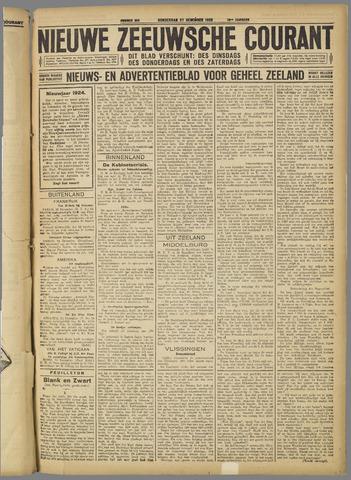 Nieuwe Zeeuwsche Courant 1923-12-27
