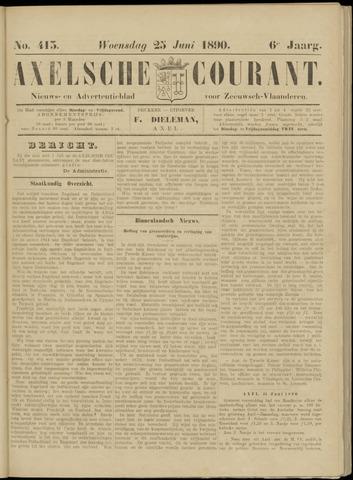 Axelsche Courant 1890-06-25