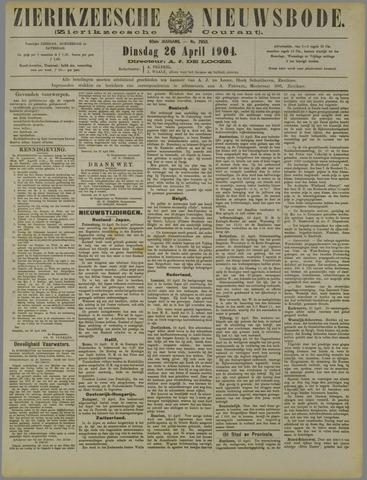 Zierikzeesche Nieuwsbode 1904-04-26