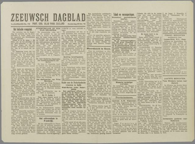 Zeeuwsch Dagblad 1945-10-25