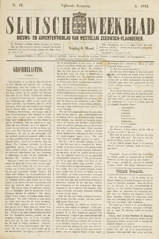 Sluisch Weekblad. Nieuws- en advertentieblad voor Westelijk Zeeuwsch-Vlaanderen 1874-03-06