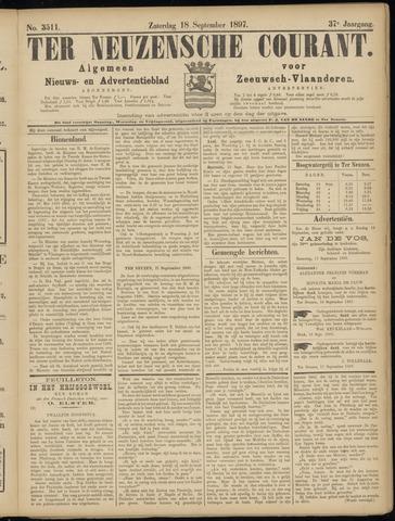 Ter Neuzensche Courant. Algemeen Nieuws- en Advertentieblad voor Zeeuwsch-Vlaanderen / Neuzensche Courant ... (idem) / (Algemeen) nieuws en advertentieblad voor Zeeuwsch-Vlaanderen 1897-09-18