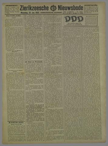 Zierikzeesche Nieuwsbode 1923-01-22