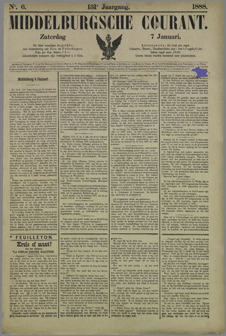 Middelburgsche Courant 1888-01-07