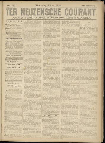 Ter Neuzensche Courant. Algemeen Nieuws- en Advertentieblad voor Zeeuwsch-Vlaanderen / Neuzensche Courant ... (idem) / (Algemeen) nieuws en advertentieblad voor Zeeuwsch-Vlaanderen 1924-03-19
