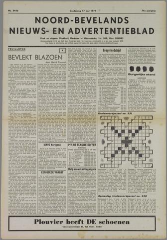 Noord-Bevelands Nieuws- en advertentieblad 1971-06-17