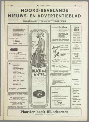 Noord-Bevelands Nieuws- en advertentieblad 1964-04-25