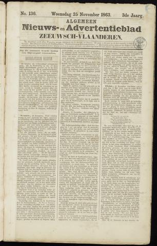 Ter Neuzensche Courant. Algemeen Nieuws- en Advertentieblad voor Zeeuwsch-Vlaanderen / Neuzensche Courant ... (idem) / (Algemeen) nieuws en advertentieblad voor Zeeuwsch-Vlaanderen 1863-11-25