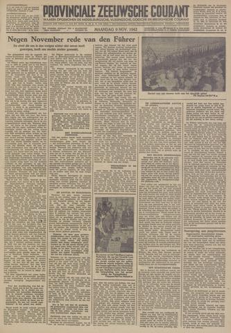 Provinciale Zeeuwse Courant 1942-11-09